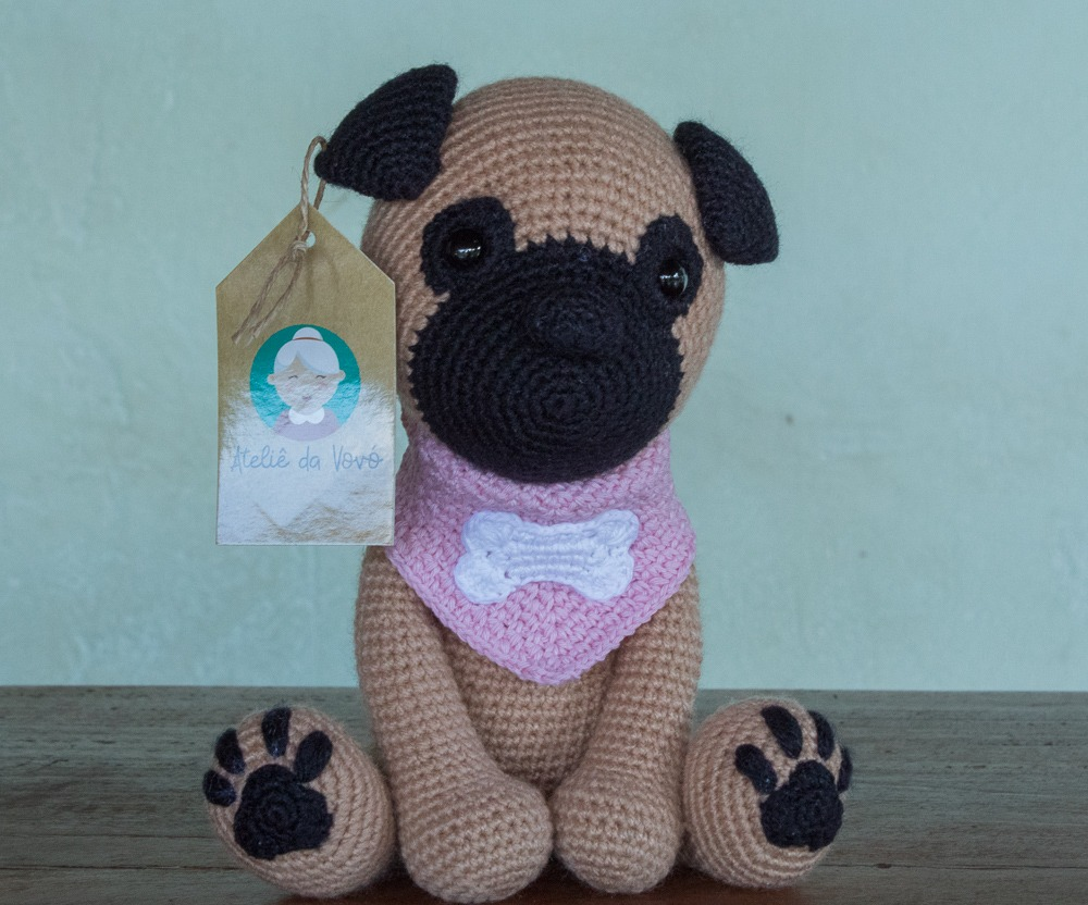 HOW TO CROCHET PUG DOGGY | AMIGURUMI TUTORIAL - YouTube | 832x1000
